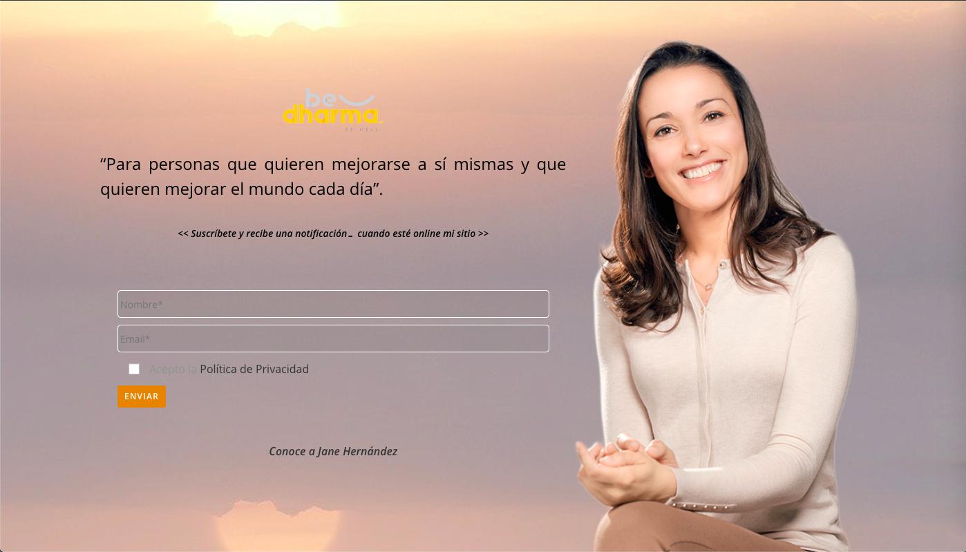 Imagen de un diseño de página web para sitio en construcción