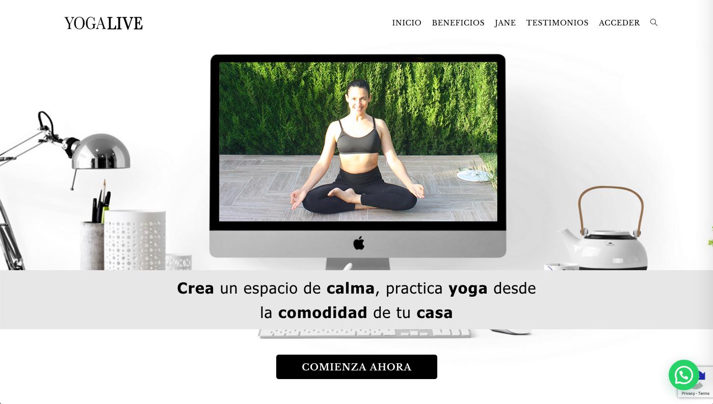 Diseño de la web de Yoga Online.