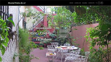 Imagen de la portada de sitio web creado por Yoe. Diseñado para casa de renta y clientes veganos o veggie friendly.