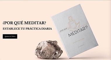 Portada de la landing page del libro ¿Por qué meditar?
