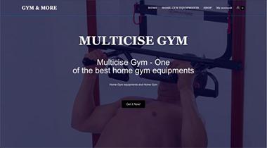 Gym Web landing page.