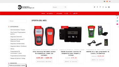 Portada del diseño de la tienda online de herramientas para coches.