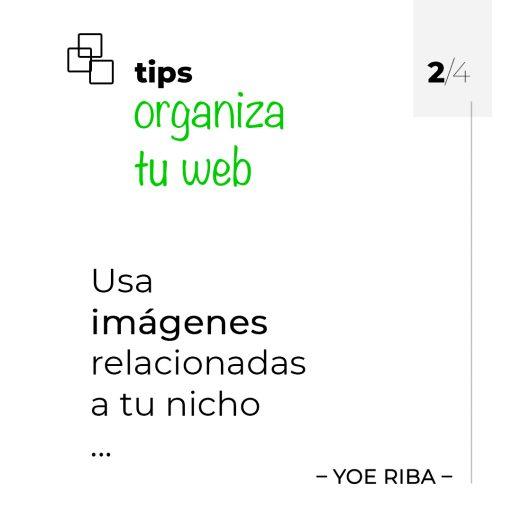 Tips para mantener una web organizada usando imágenes.