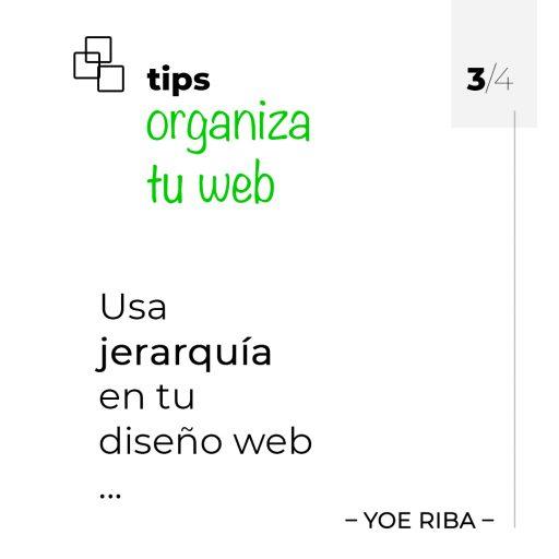 Impulsa tu web insertando contenido organizado y con una buena jerarquía.