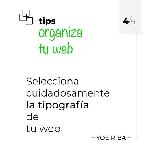 Inserta fuentes en tu web para optimizar la lectura del contenido.